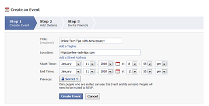 How To Create Event On Facebook Page