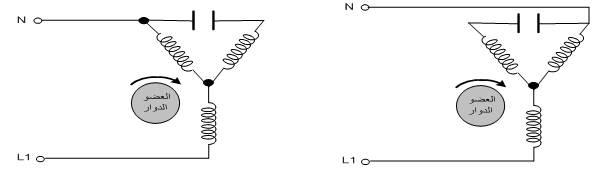 تحويل محرك ثلاثي الفاز ليعمل كمحرك احادي الفاز, وتحديد قيمه المكثف