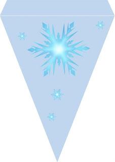 Banderines para Cumpleaños de Frozen para imprimir gratis.