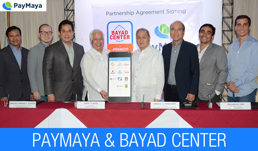 PayMaya partners with Bayad Center for convenient, faster and secure bills payment