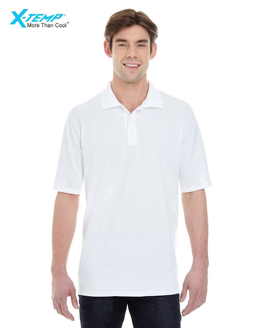 Hanes 055P Mens X-Temp Pique Short-Sleeve Polo- White – XL
