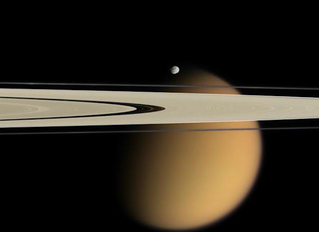 titan and rings