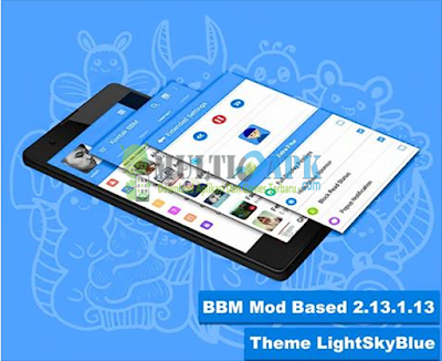 BBM Mod LightSkyBlue v2.13.1.13 Apk Full Fitur
