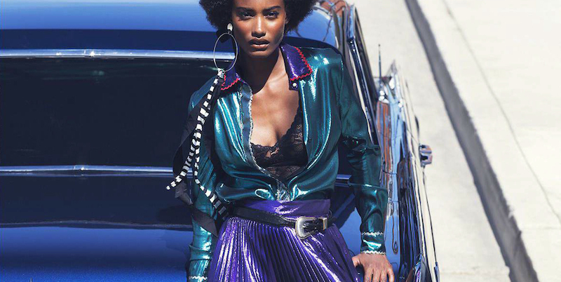 time to shine: melodie monrose by david bellemere for us elle november 2015
