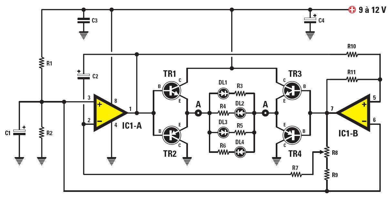 un circuit clignotant universel pour led bleues schema electronique net. Black Bedroom Furniture Sets. Home Design Ideas