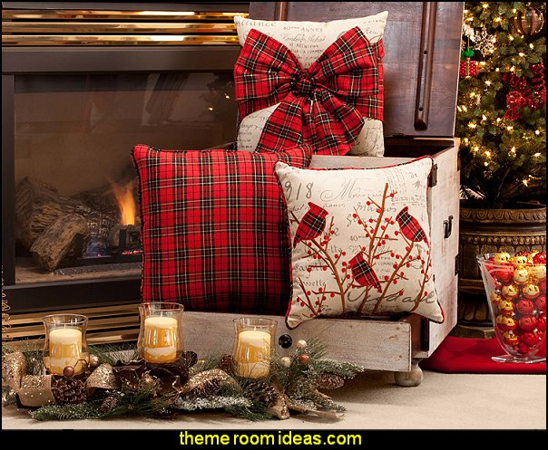 Decorating theme bedrooms - Maries Manor Christmas decorating - decorative christmas pillows