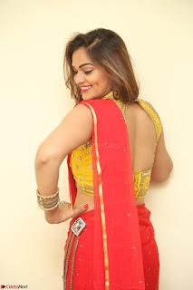 Actress Ashwini in Golden choli Red saree Spicy Pics ~  075.JPG