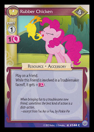 My Little Pony Rubber Chicken Premiere CCG Card