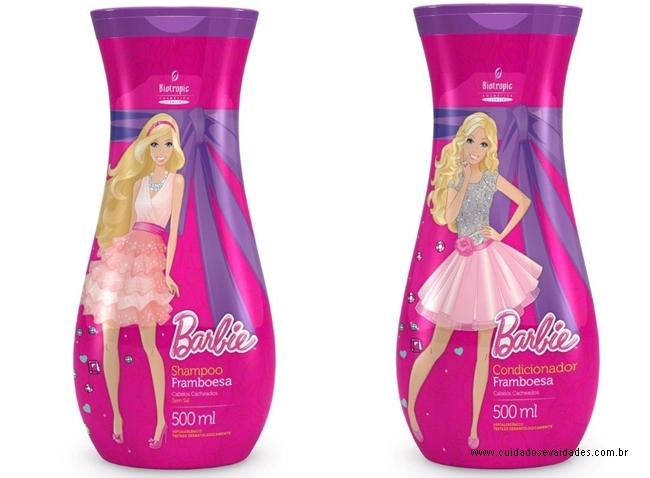 Shampoo e Condicionador Barbie Framboesa Cabelos Cacheados