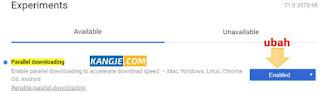 Step 2 - Cara Meningkatkan Kecepatan Download Google Chrome Menyamai IDM