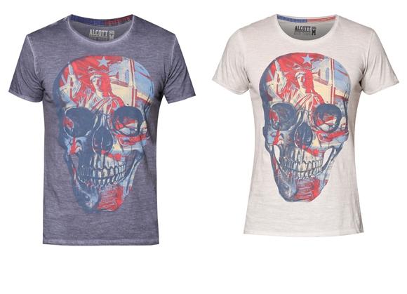 Baju Lelaki Skull Printed Jenama Alcott