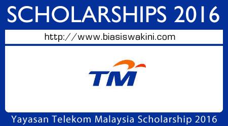 Yayasan Telekom Malaysia Scholarship 2016