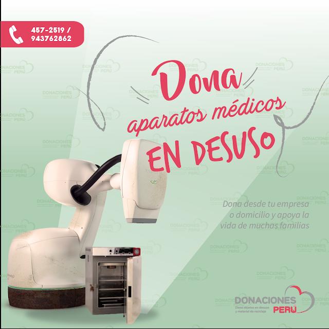 Dona aparatos médicos en desuso