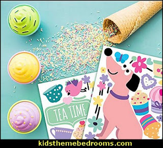 Cupcake Cute Pink Decor Stickers  cupcakes bedroom ideas - cupcakes theme candy decorating candyland sweets - cupcake bedding - cupcake decor - candy decor -  Ice Cream decor - cupcakes and candy bedroom ideas - candy theme bedroom - cupcakes and candy decor - Candy party props - Candy party decorations - candyland gingerbread decorations