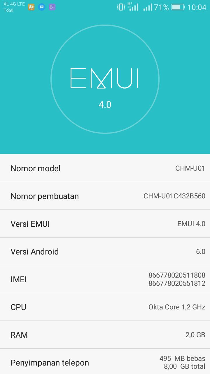 Pembaruan Huawei Honor 4C