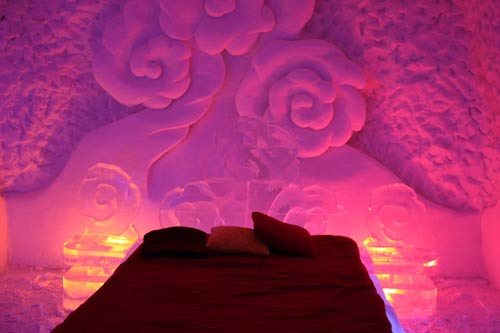 Rose Room At The Ice Hotel