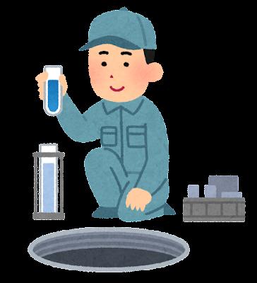 浄化槽の水質検査のイラスト
