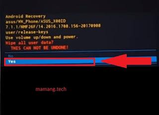 Cara Reset Ulang Asus Zenfone Live L2 Lupa Pola dan Pin