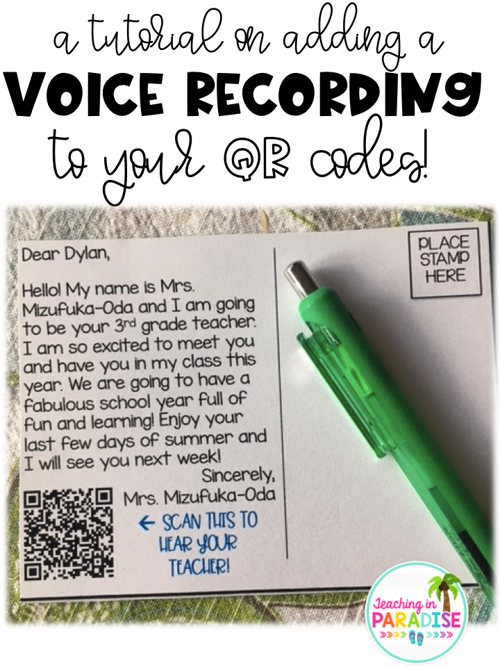Teaching in Paradise: A Tutorial on Adding a Voice Recording to Your