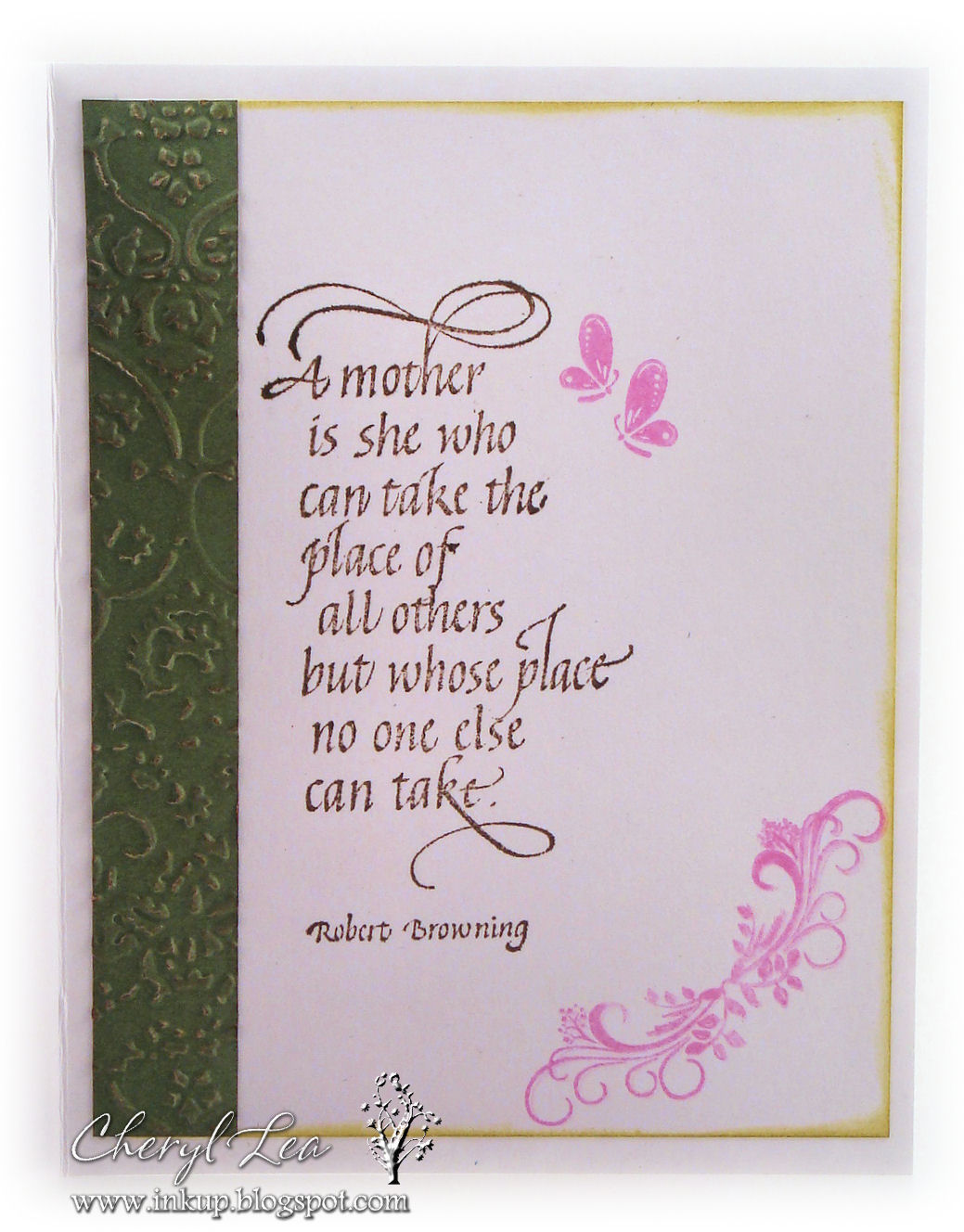 The Sentiment On Inside Of Card Is A Quietfire Design Pink Flourish And Erflies Are From Erfly 2 Stamp Set