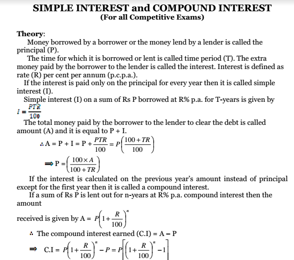 Simple and compound interest problems with solutions PDF bankers way