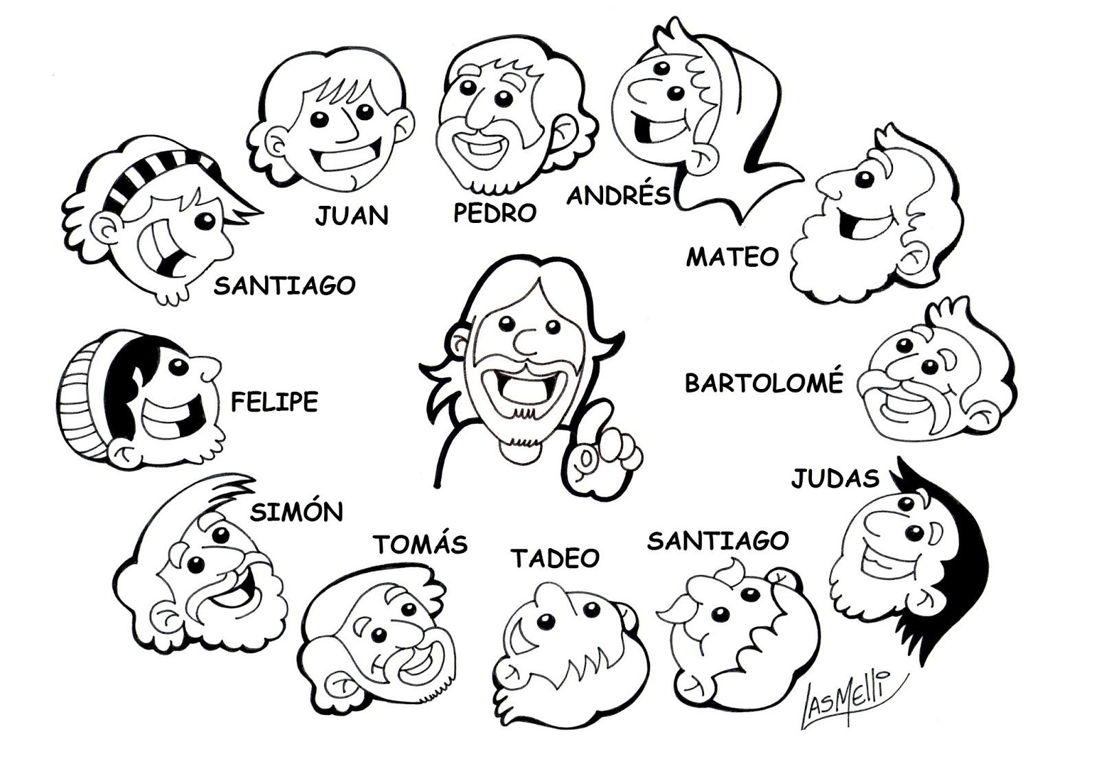 Las Misiones Y Los Niños Dibujos Para Colorear De Niños: Dibujo De Los 12 Apostoles
