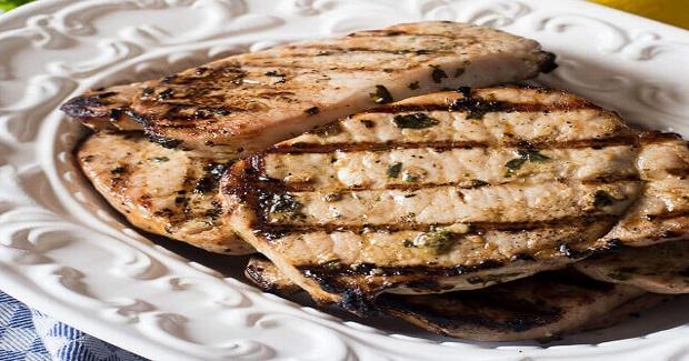 Grilled Basil Lemon Pork Chops Recipe - Kusina Master Recipes