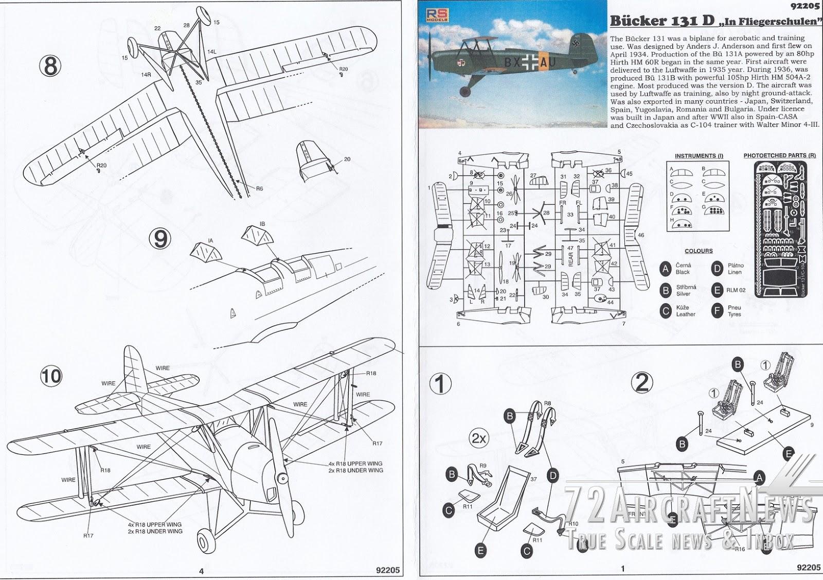 Bucker Bu 131 Bucker 131 D In Fliegerschulen