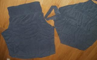 fartuch z męskiej koszuli wykrój