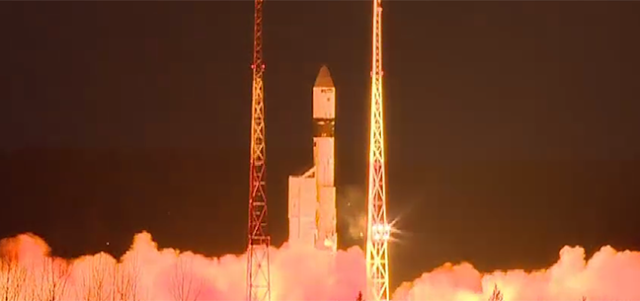 Rokot lifts off with Sentinel-3B. Credit: ESA