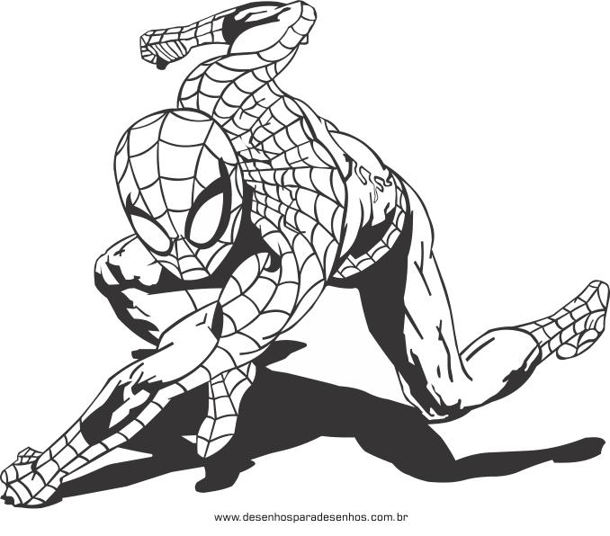 Desenhos Para Pintar E Imprimir Desenhos Do Homem Aranha Para Colorir