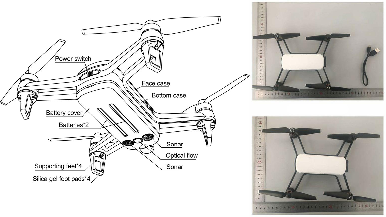 Схема и фотографии квадрокоптера Yi Pixie