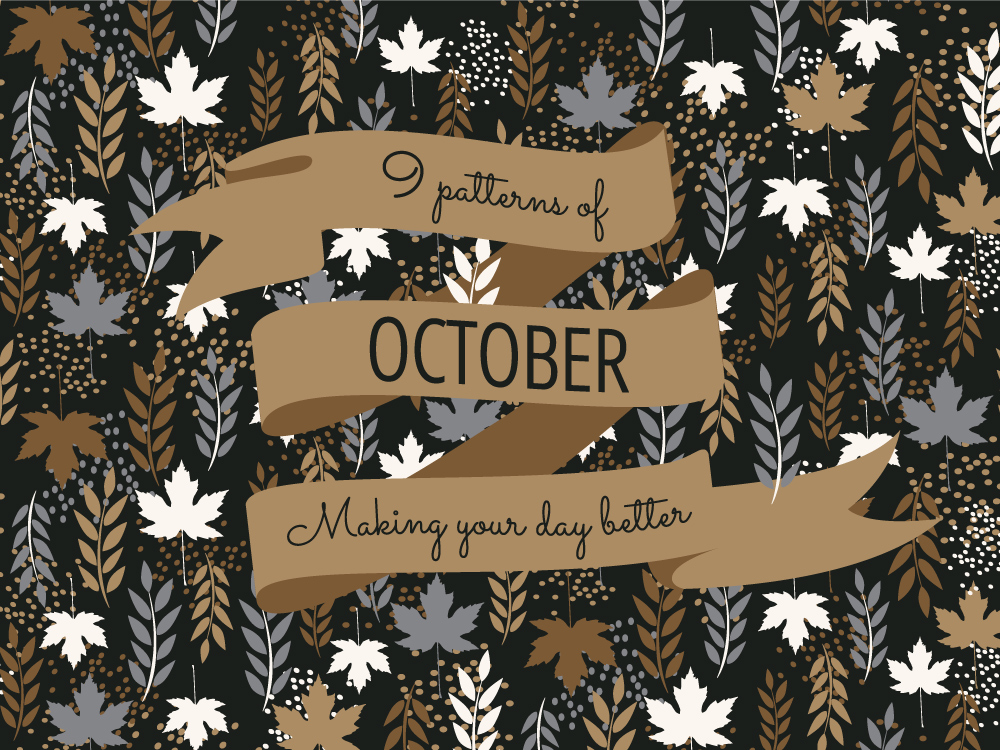 "Rating top 9 patterns of October for ""Daily Crazy Pattern"" project by Natalia Kolodiazhna"