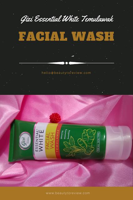 gizi essential white temulawak facial wash