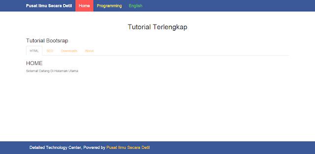 membuat tab dengan bootstrap