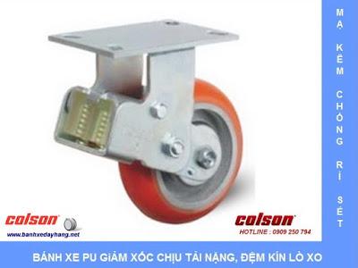 Bánh xe đẩy giảm xóc lò xo đôi có hộp bảo vệ Colson Caster tại Hà Nội www.banhxeday.xyz