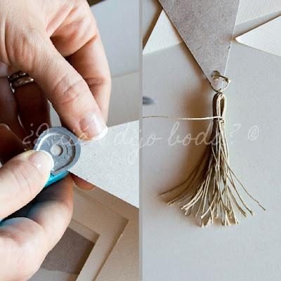 Guirnalda de banderines DiY para tu boda - paso 5