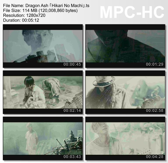 [MUSIC VIDEO] Dragon Ash – 光りの街 (2016.11.09/MP4/RAR)