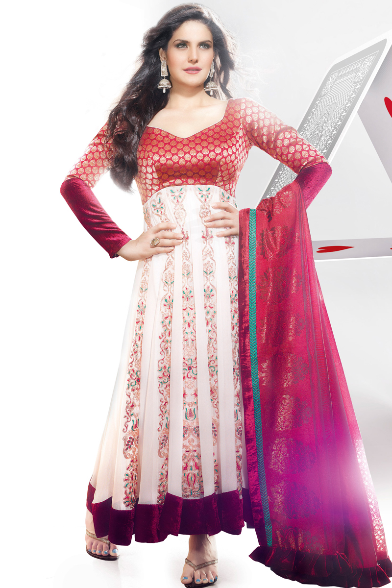 Zarine Khan in Latest Party Wear Designer Anarkali Suits ...