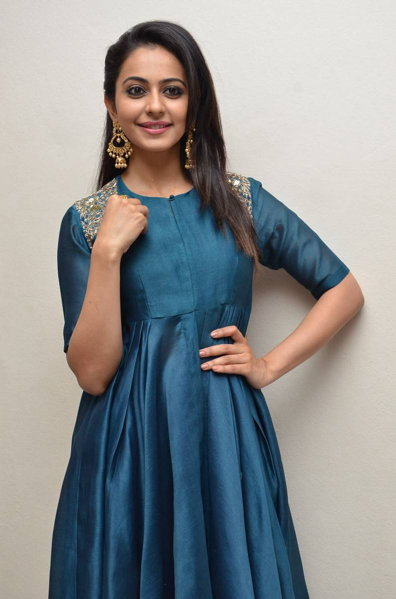 Rakul Preet Singh In Photos Blue Dress
