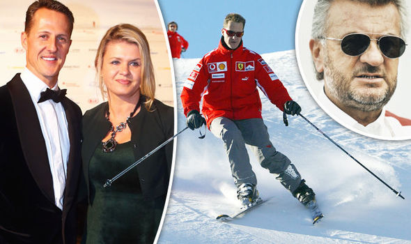 Willi Weber (r with Schumacher) called for clarity on the legend's condition after a ski accident