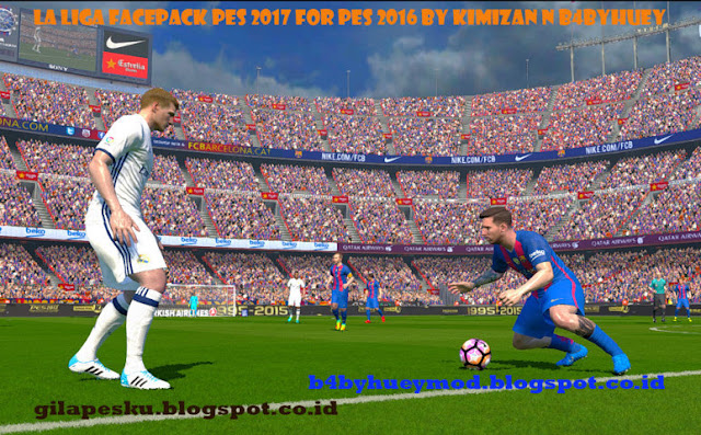 PES 2017 La Liga Facepack for PES 2016