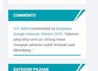 cara memasang widget komentar di blog