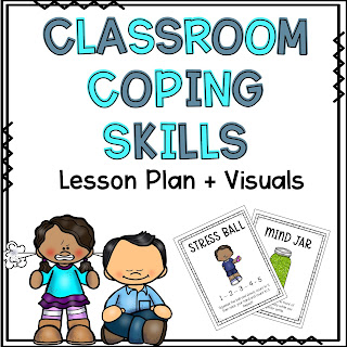 Classroom coping skill lesson plan and visuals TpT link