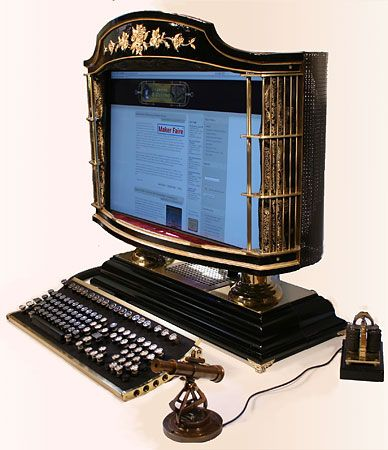 Steampunk PC Monitor