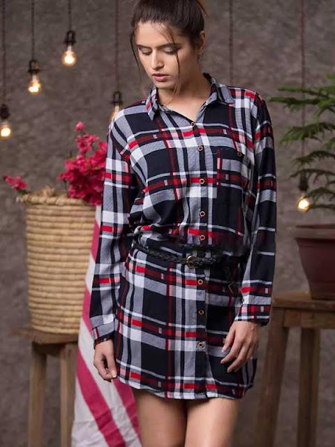 Best summer dresses online Checked Shirt