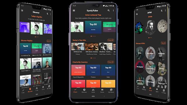 تحميل تطبيق SpotyTube الذي سيجعلك تستمع بالمقاطع الموسيقية الأكثر شعبية و أفضلها
