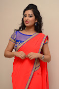 tejaswini sizzling photos in saree-thumbnail-4