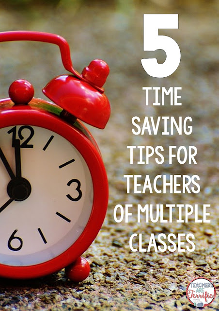 Tips for specialists that have many classes! The use of time and being prepared is paramount and this post has some tips and hints that may help you!