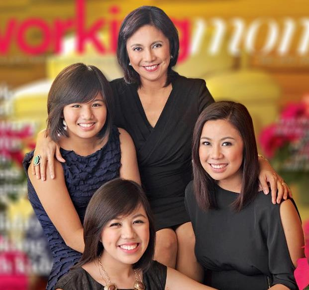 Leni with her daughters, Jillian, Tricia and Aika.